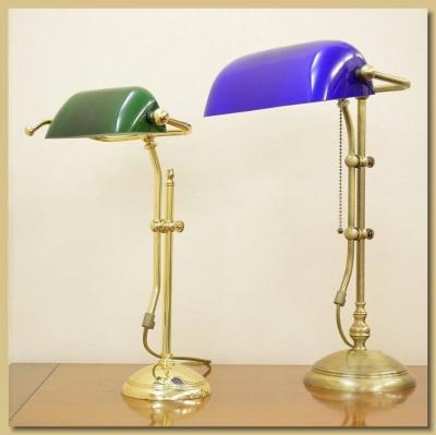 Arredamento ottone lampada da tavolo mod ministeriale for Lampada da tavolo grande