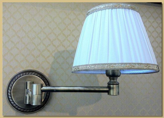 Applique lampada da muro mod doppio snodo
