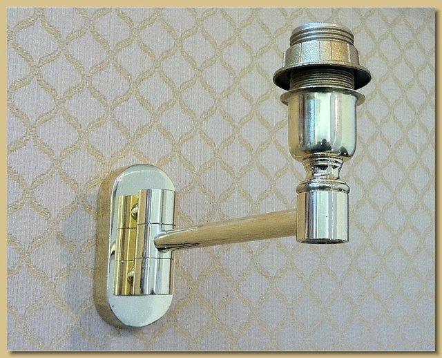 Arredamento ottone applique lampada da muro mod snodo singolo